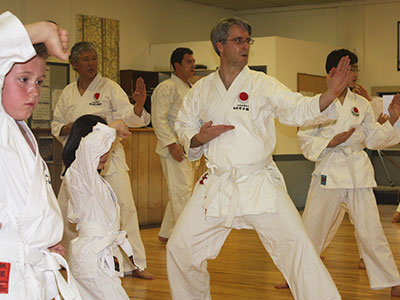 White belts doing kata